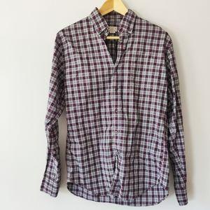 J. Crew Tailored Men's Plaid Cotton Button Down